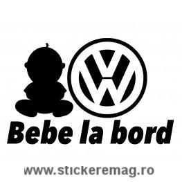 Sticker Auto Volkswagen Bebe la bord