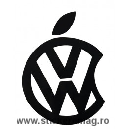 Sticker Auto Volkswagen Apple