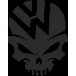 Sticker Auto Volkswagen Skull