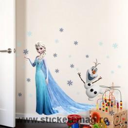 Sticker decorativ Elsa & Olaf Frozen