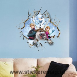 Sticker decorativ 3D Forzen Anna Olaf