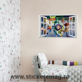 Sticker decorativ 3D Toy Story Fereastra