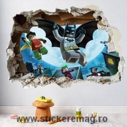 Sticker decorativ 3D Lego Batman Super Heros