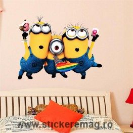 Sticker decorativ 3D Minioni L