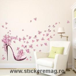 Sticker decorativ pantof damă