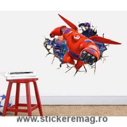 Sticker decorativ 3D Baymax Big Hero 6