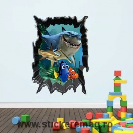 Sticker 3D Finding Nemo Bruce Dory