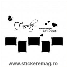 Sticker decorativ cu poze de familie
