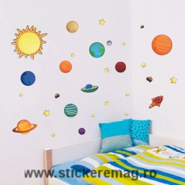Sticker decorativ planete