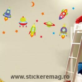 Sticker pentru copii cosmos