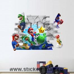 Stickere pentru copii Super Mario